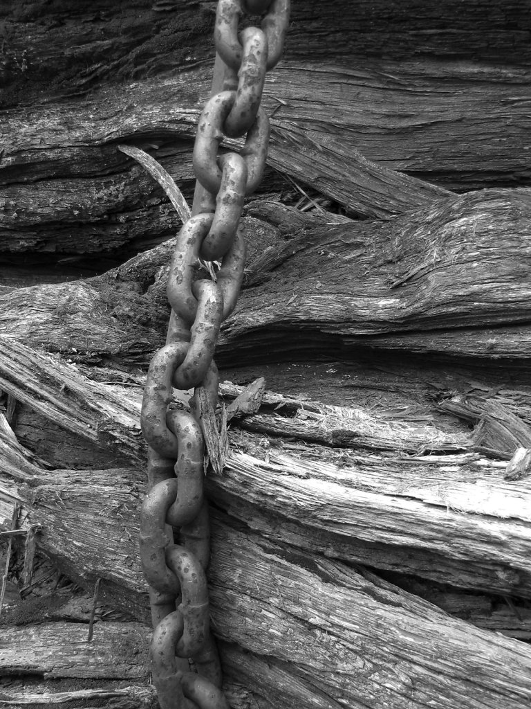 Chain on Wood