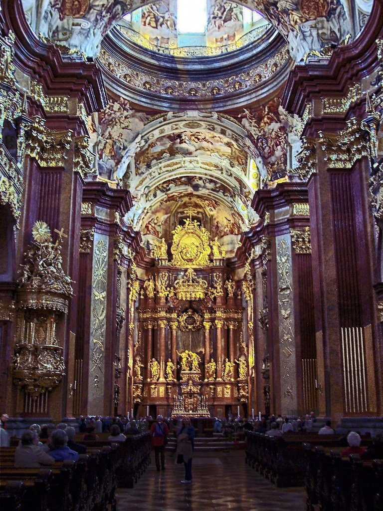 Cathedral of Abby in Melk, Austria
