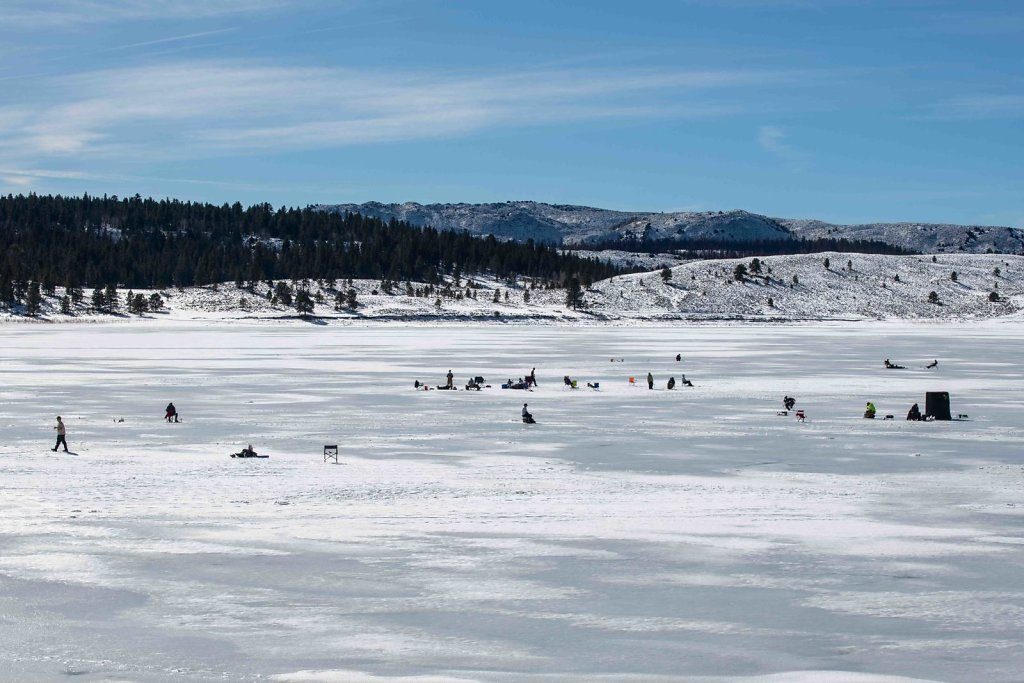 Ice fishing in Southeastern Utah