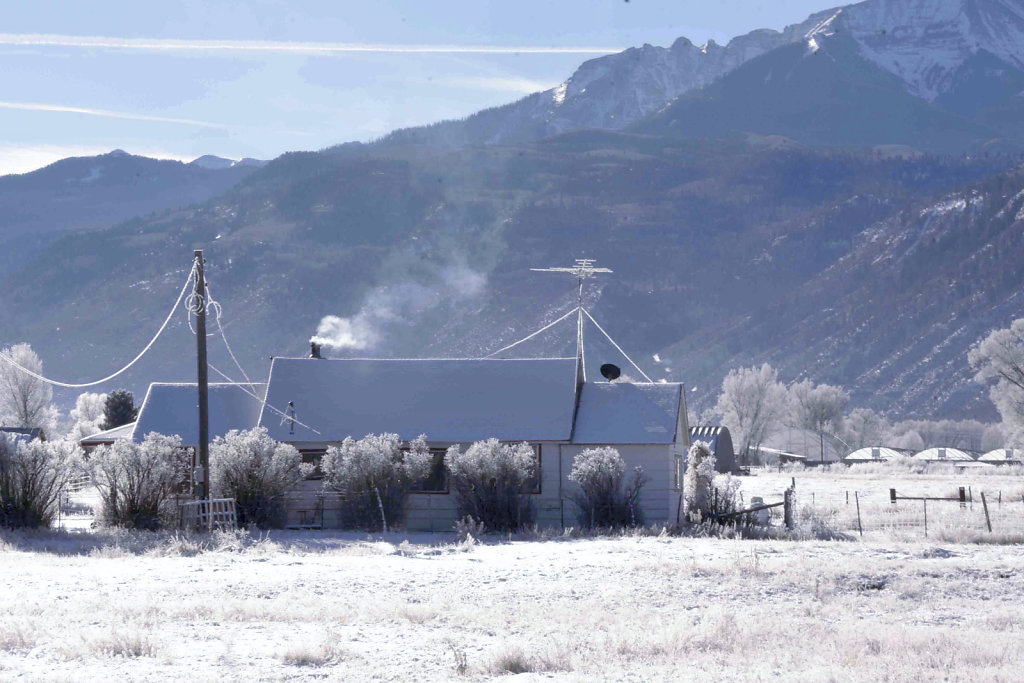 A frosty morning in Ridgway