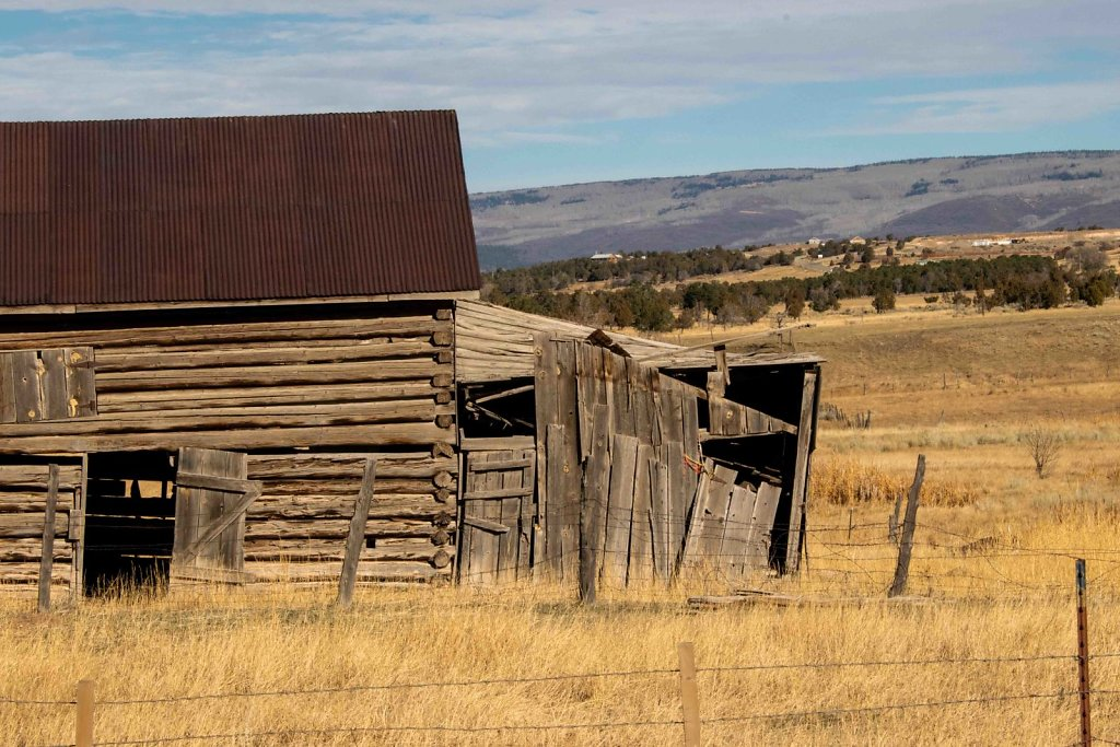 Old ranch building west-central Colorado