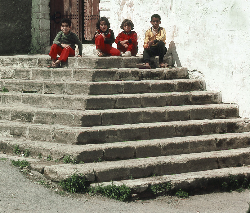 Children on Steps 1