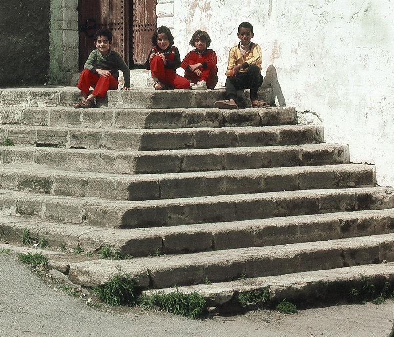 Children on Steps 1
