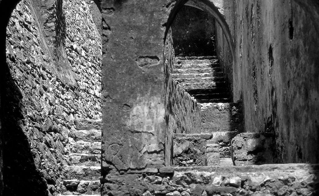 Arches in ruins at Cap Hatien, Haiti.