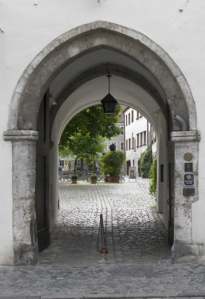 Archway in Regensburg, GER