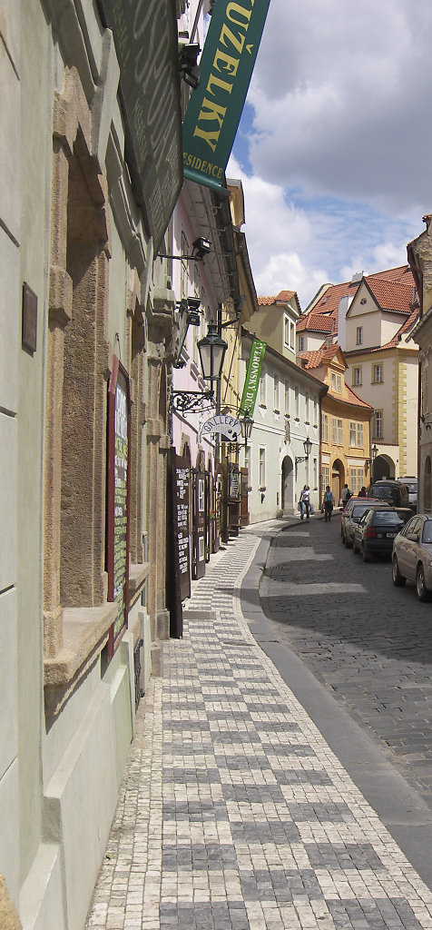 Skinny street in Prague