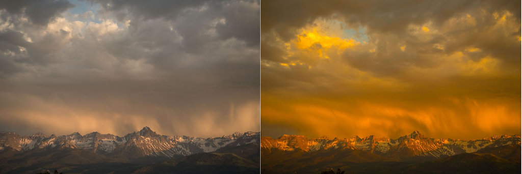 Solstace Sunset 2-1/2 minutes apart