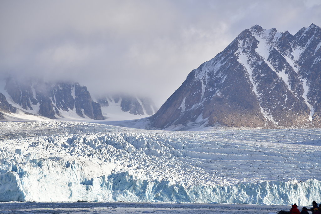 Glacier face-on
