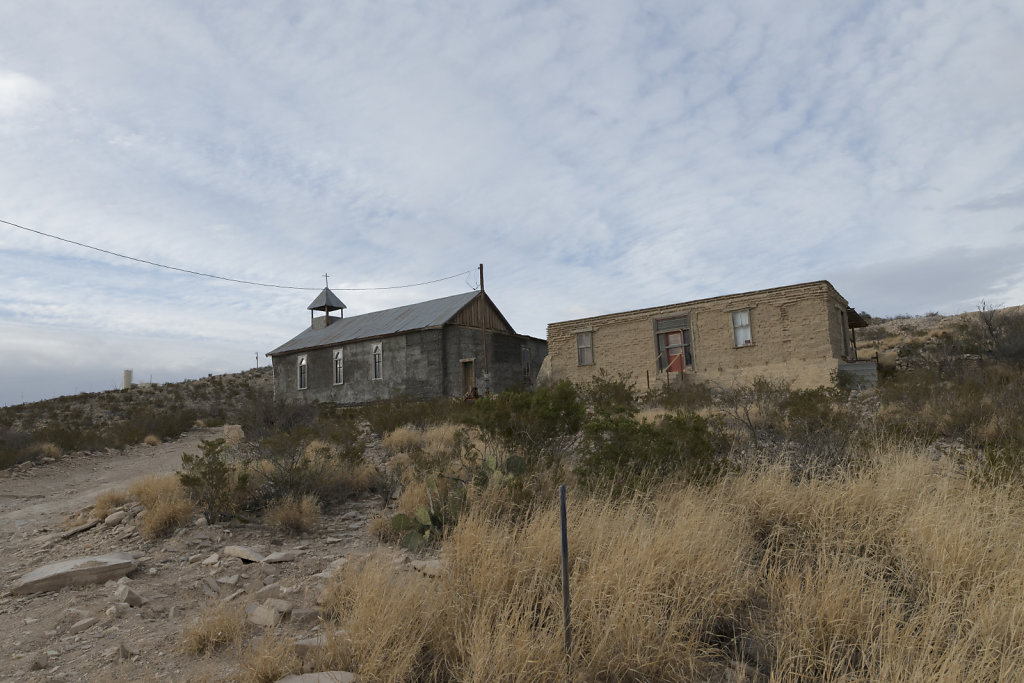 Church at the ghost town in Terlingua, Texas