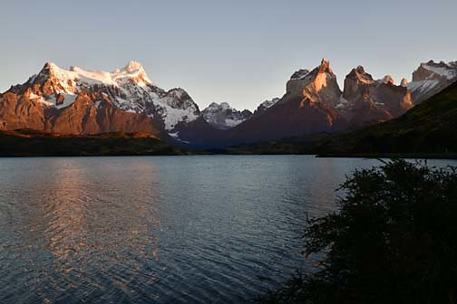 The Paine Massif at sunrise