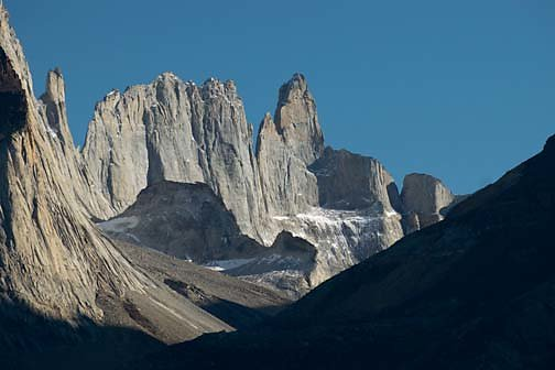 A view of the Torres del Paine